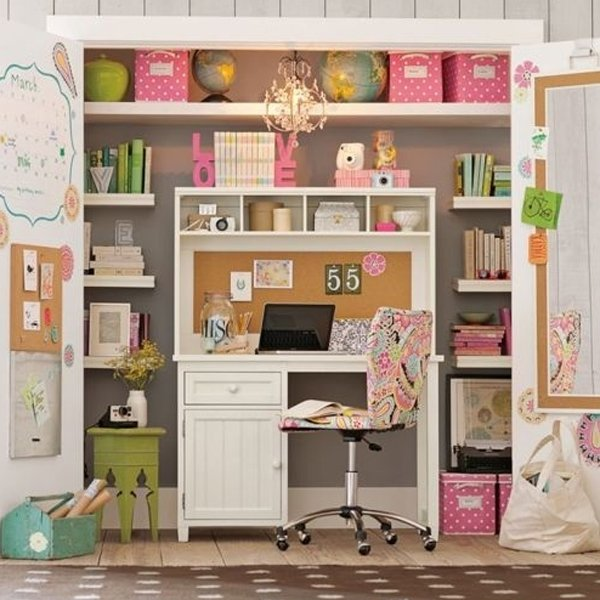 cool-and-stylish-pink-office-with-closet-ideas