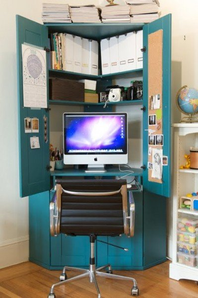 turn-cabinet-into-a-mini-home-office-1