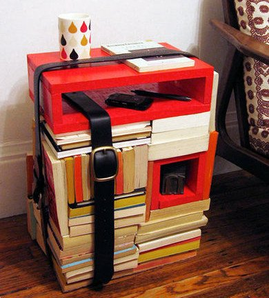 diyinspired.com Books-turned-Side-Table 390x432