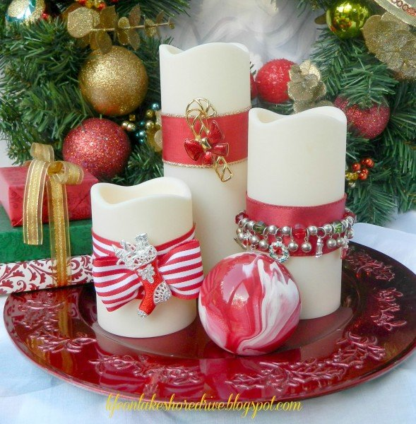 decoration-ideas-brilliant-christmas-decoration-ideas-with-nice-white-candles-also-awesome-red-ribbon-impressive-simple-christmas-table-decoration-ideas
