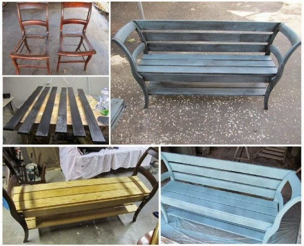 Turn Chairs into a fabulous Bench.