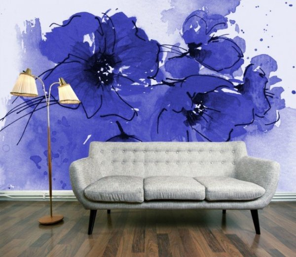 Indigo-Poppies-Wallpaper-Mural-645x561